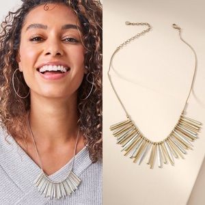 Stella & Dot Essential Fringe Necklace-mixed metal